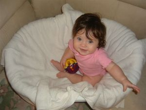 Sheri's daughter as a baby.